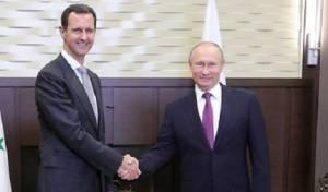פוטין ואסד בפגישתם הקודמת - פוטין בביקור פתע בסוריה: יוציא את הכוחות