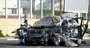 רכב לאחר שהתפוצץ