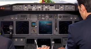 תא הטייס במטוס 'עיראקי איירוייז'