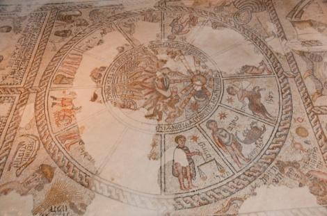 פסיפס גלגל המזלות בגן לאומי ציפורי - גן לאומי ציפורי - המשנה והתלמוד קמים לתחייה