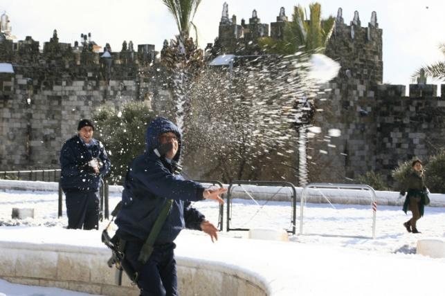 היערכות המשטרה לסופת השלג