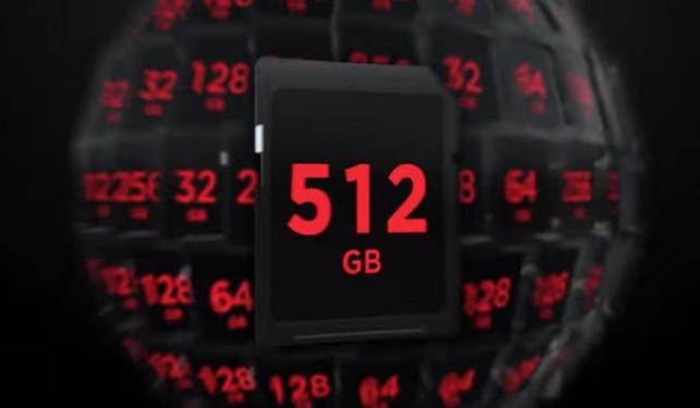 שיא חדש: כרטיס זיכרון של 512GB