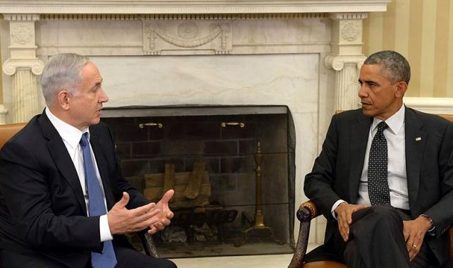 """נשיא ארה""""ב ברק אובמה וראש הממשלה בנימין נתניהו"""
