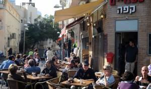 בית קפה בתל אביב. אילוסטרציה