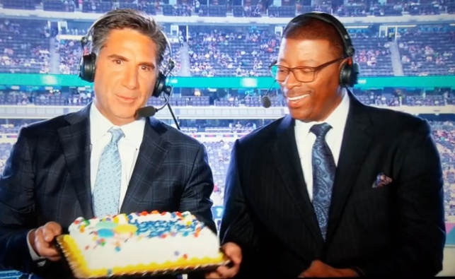 השדרן ריסק בטעות את עוגת היום הולדת