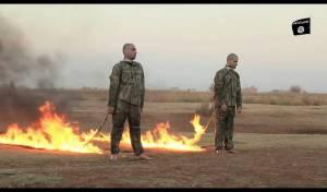 """דאע""""ש שרף למוות את שני הטורקים ששבה"""
