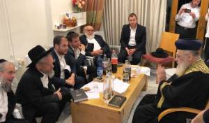 """גדולי ישראל מנחמים את הגר""""י ברייטקופף"""