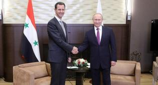 """פוטין ואסד - פוטין לצד אסד, איראן מאיימת ב""""גיהינום"""""""