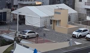 הזוי: באחיסמך נאלצים להתפלל בתוך אוהל