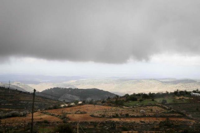 ענני גשם מעל גוש עציון
