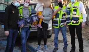 האמא עם המתנדבים