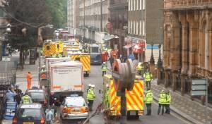 זירת אחד הפיצוצים שהחרידו את לונדון