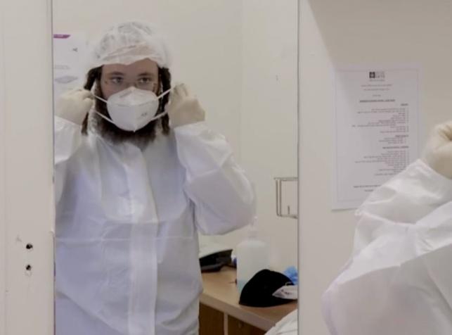 """מחלים מקורונה, שמתנדב בבי""""ח. אילוסטרציה"""