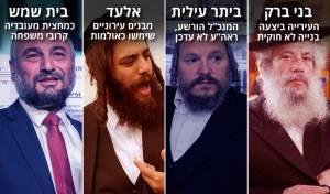 חנוך זייברט, מאיר רובינשטיין, ישראל פרוש ומשה אבוטבול - בבני ברק מצפצפים על החוק, בבית שמש מעסיקים קרובים