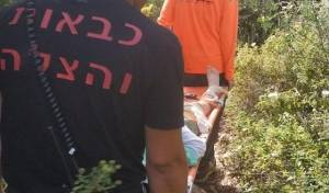 """ילד בן 12 נחבל בנחל המערה; חולץ לביה""""ח"""