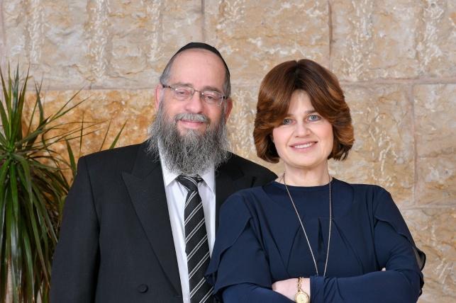 """הרב הבר ז""""ל ורעייתו הרבנית רחל"""