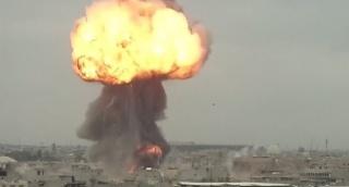 פגיעה ישירה ומדויקת - כך הופצץ מעוז דאעש במוסול שבעיראק