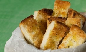לחם שום מהיר הכנה