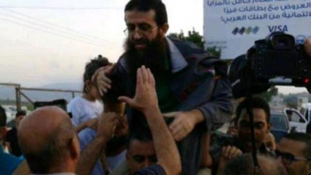 עדנאן אחרי שחרורו בתחילת השבוע