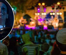 ניני על רקע הופעה. אילוסטרציה - סוער בהונג קונג: רבנים נגד זמרת שמאלנית