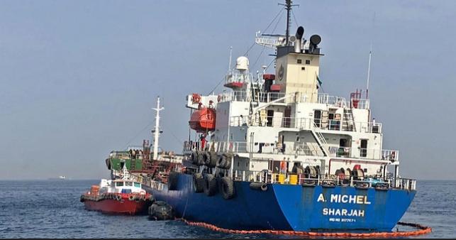 אחת הספינות שנפגעו