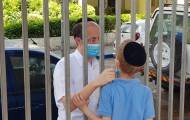 מרגש: האב היה ב'סיום' של בנו מעבר לגדר