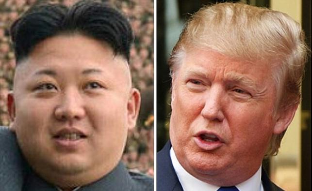 דונלד טראמפ וקים ג'ונג און