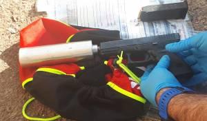 תמונת האקדח בו בוצע הירי