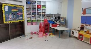 גן הילדים לאחר הפינוי - ילדי הגן אכלו טונה ופונו לבית החולים