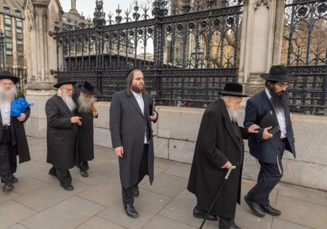 הרבנים בהגעתם לארמון