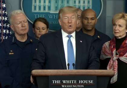 """טראמפ: """"לפחות מאה אלף ימותו מקורונה"""""""