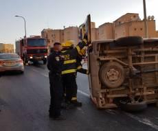 התאונה בצפת - 11 בני משפחה חרדית נפצעו בתאונה בצפת