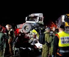 זירת התאונה הקשה - חייל גולני נוסף נפטר מפצעיו בבית החולים