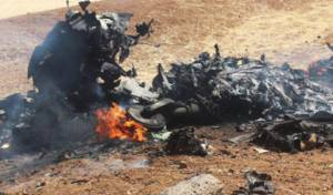שרידי המטוס הסורי