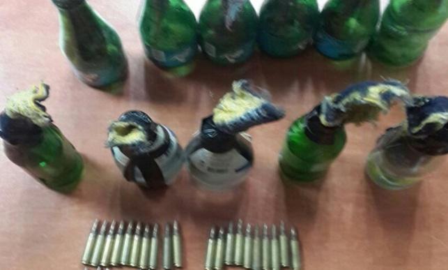 נתפס ליד חברון: נשק ובקבוקי תבערה מוכנים