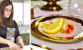 גלילות דג סול במילוי ירקות - גלילות דג סול במילוי ירקות של מורן פינטו