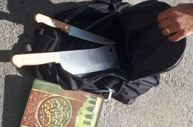 ליד כוכב יעקב: נתפס מחבל עם שני סכינים