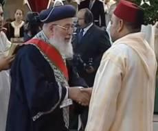 כשמלך מרוקו העניק לראשון לציון אות כבוד