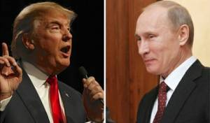 """טראמפ ופוטין, ארכיון - רוסיה: ארה""""ב פתחה נגדנו ב'מלחמת סחר'"""