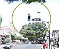 הנהג טען שנסע בירוק; המשטרה הוכיחה הפוך