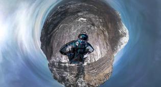ב-360 מעלות: איך זה לרחף במורד הר מושלג?
