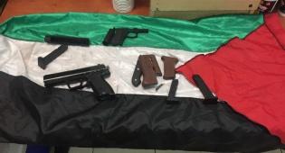 """נעצר בשל התפרעות ובביתו נתפסו אמל""""ח"""