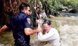החילוץ - החגורות סייעו להצלת האברכים מטביעה