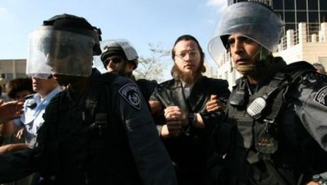 חרדים ושוטרים בירושלים