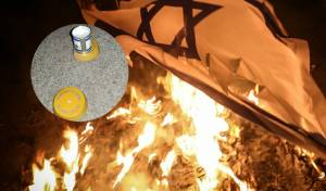 הקיצונים לא נרגעו: שרפו את נרות הנשמה