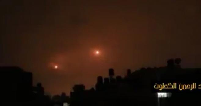 הפלסטינים תיעדו: כך נראו השיגורים מעזה
