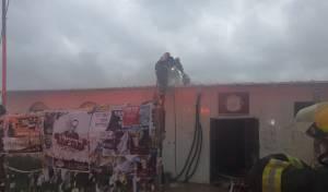 מודיעין עילית: בית כנסת עלה באש; תיעוד