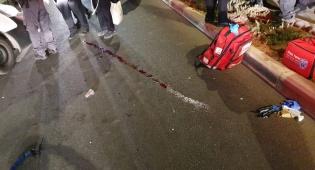 זירת התאונה, סמוך לאלעד