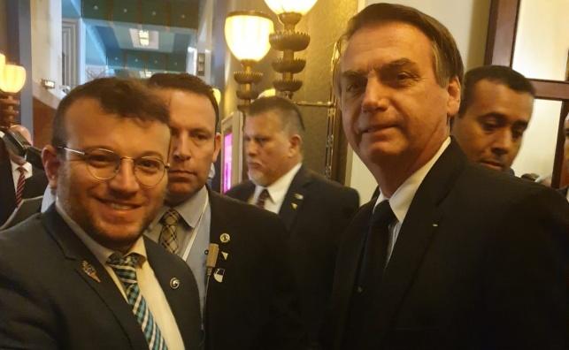 """מנכ""""ל איחוד הצלה עם נשיא ברזיל, ז'איר בולסונרו, המבקר בישראל"""