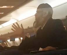 המהומה במטוס - חרדי עיכב את המטוס בגלל הסרטים. צפו